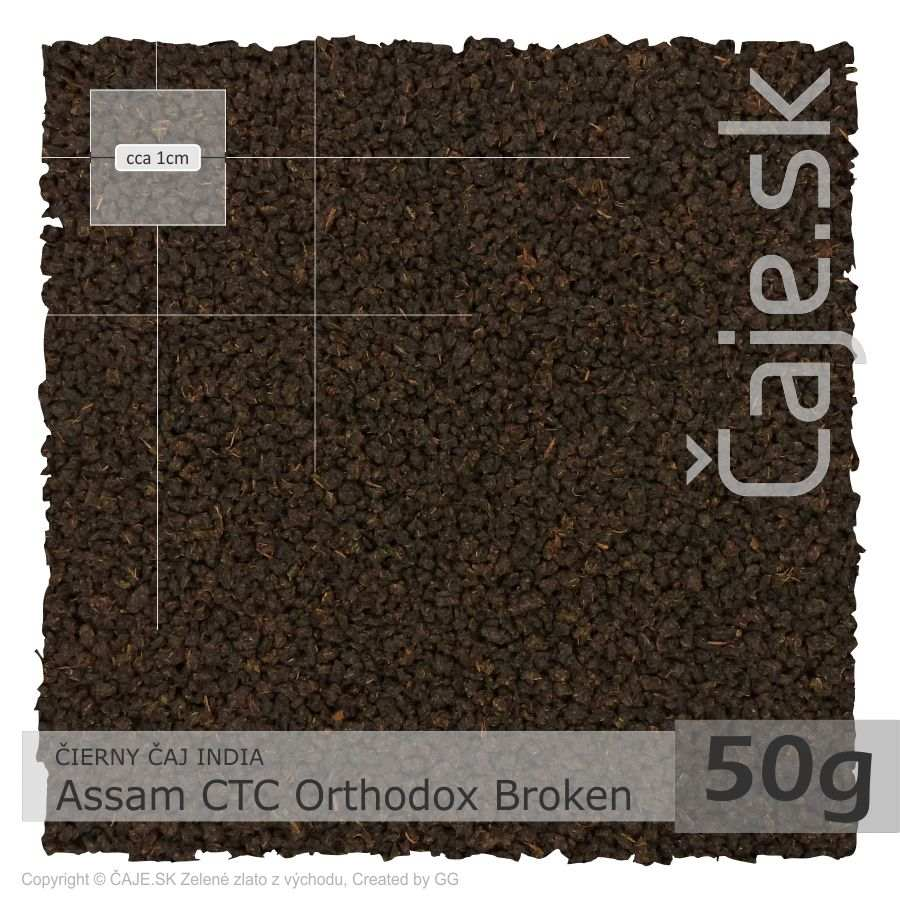 ČIERNY ČAJ INDIA – Assam CTC Orthodox Broken (50g) NEW!