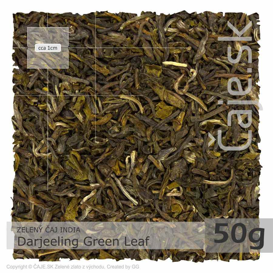 ZELENÝ ČAJ INDIA – Darjeeling Green Leaf (50g)