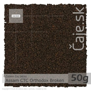 ČIERNY ČAJ INDIA – Assam CTC Orthodox Broken (50g)